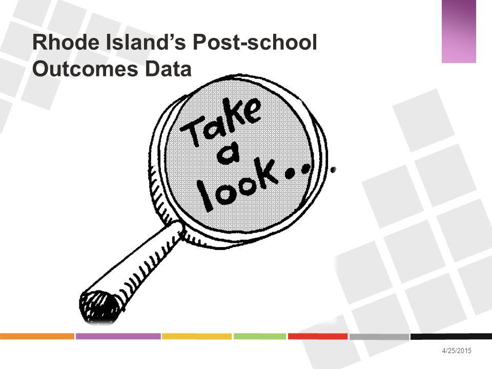 4/25/2015 Rhode Island's Post-school Outcomes Data