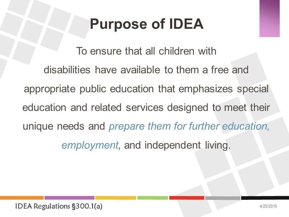 Under IDEA, States are required to submit:  State Performance Plan (SPP)  Annual Performance Report (APR) http://www.ride.ri.gov/OSCAS/SPPAPR/sppapr.aspx Federal Reporting Requirements