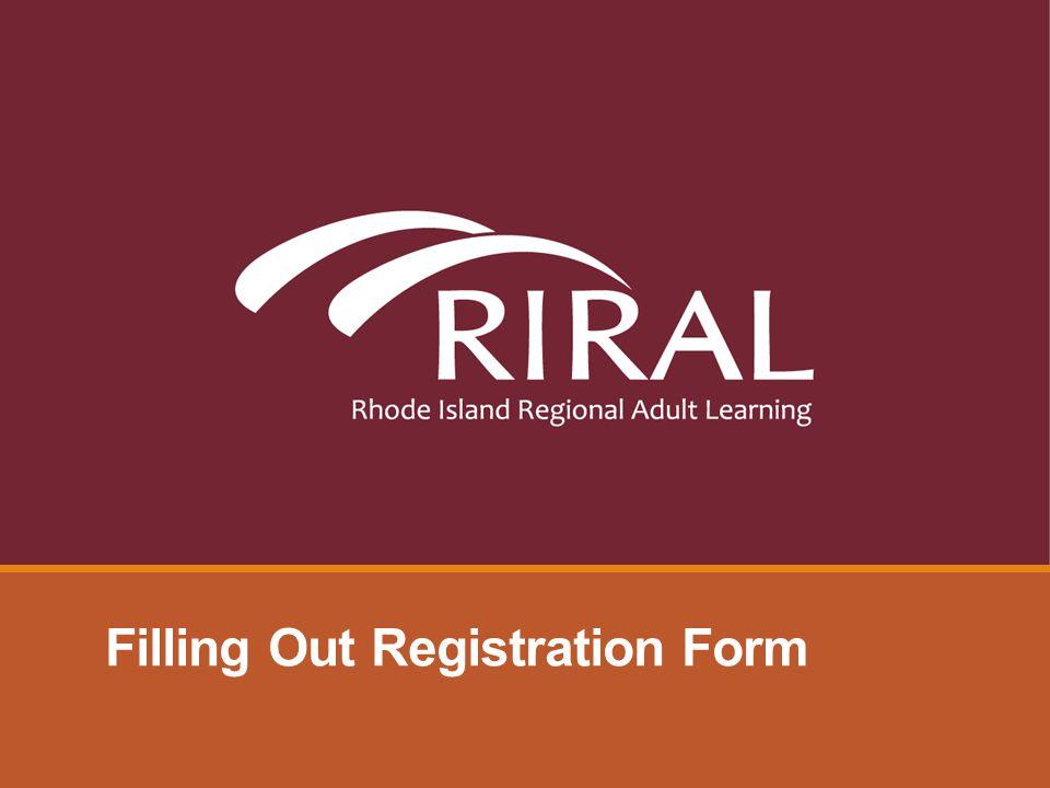 Filling Out Registration Form