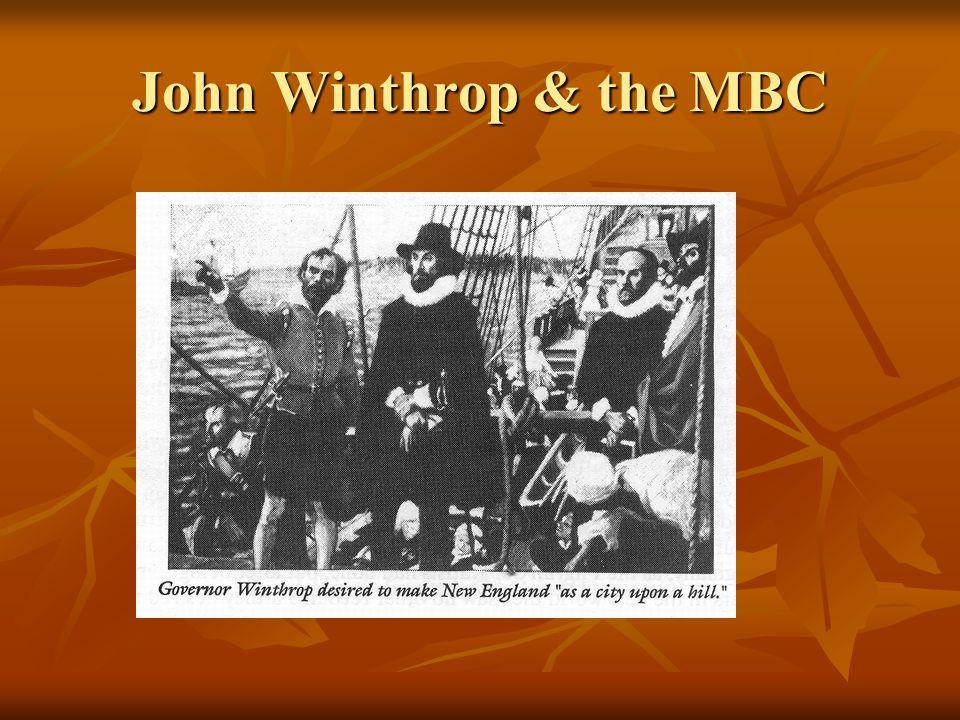 John Winthrop & the MBC