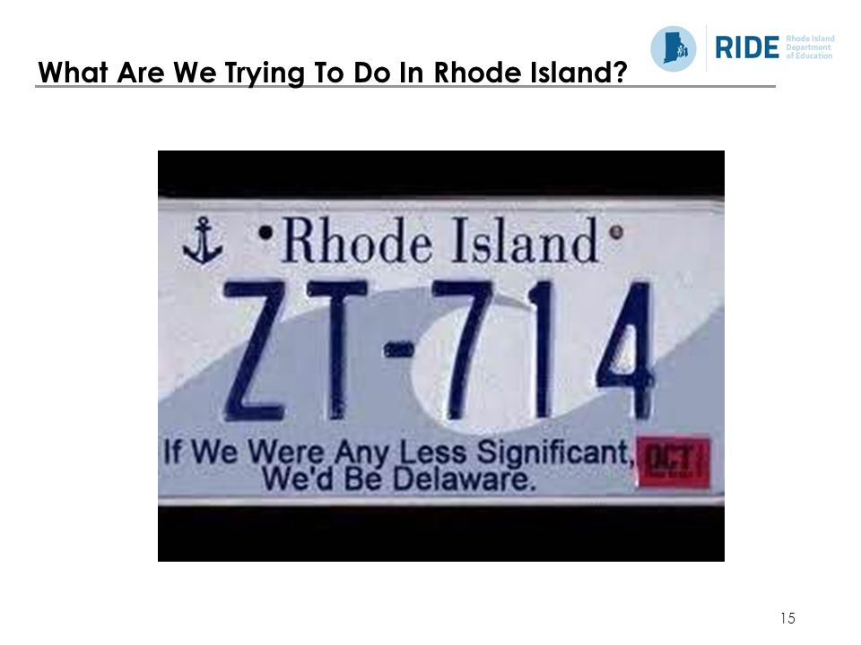 15 What Are We Trying To Do In Rhode Island?