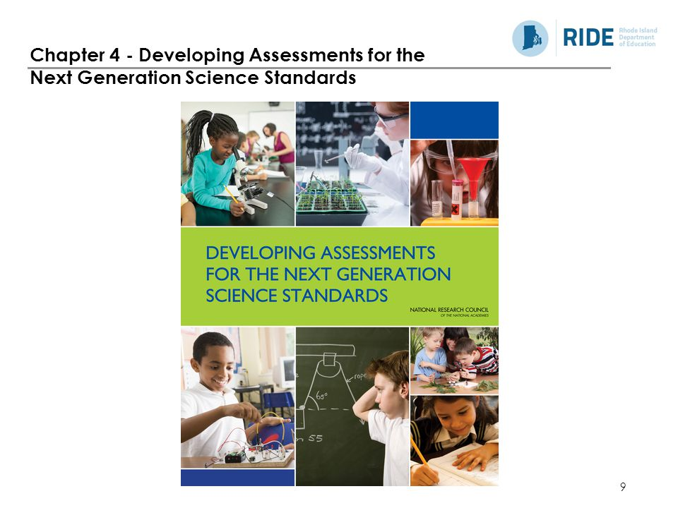 9 Chapter 4 - Developing Assessments for the Next Generation Science Standards