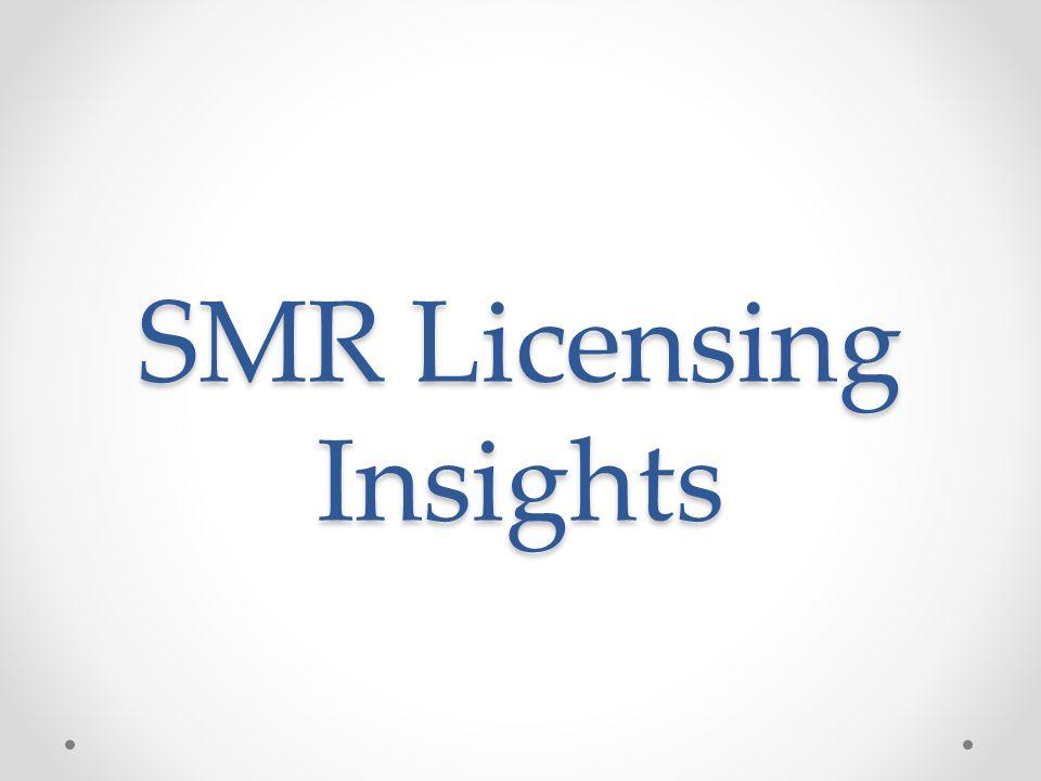 SMR Licensing Insights