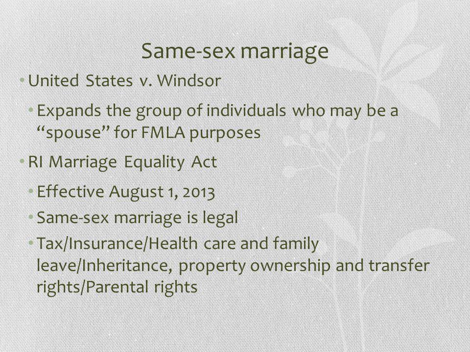 Same-sex marriage United States v.