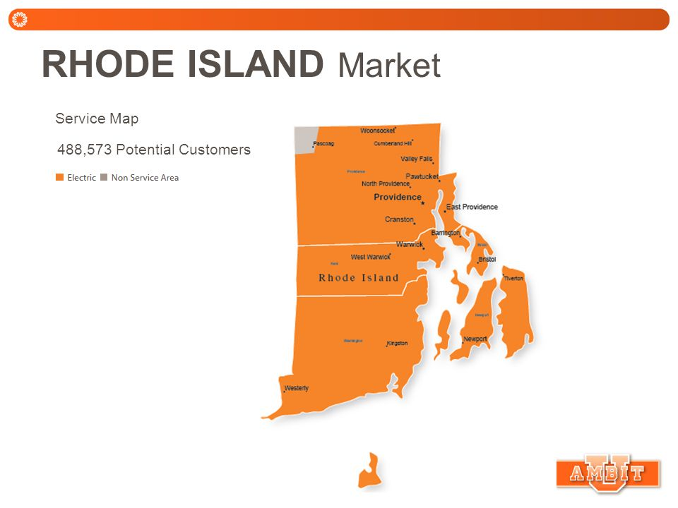 RHODE ISLAND Market Ambit Energy is the Non-regulated Power Provider (NPP) Delivery Providers: National Grid (NatGrid) Account Descriptions: National Grid - 10 digit numeric account number Assistance Programs National Grid Rhode Island offers Life Support Equipment program.