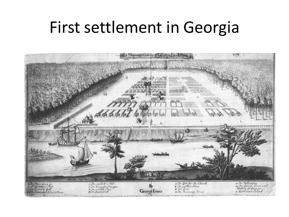 First settlement in Georgia