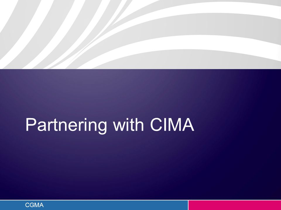 CGMA Partnering with CIMA