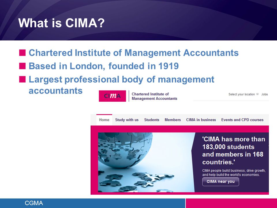 CGMA What is CIMA.