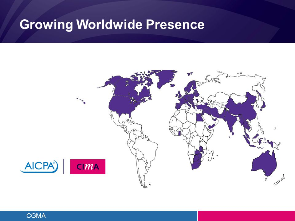 CGMA Growing Worldwide Presence