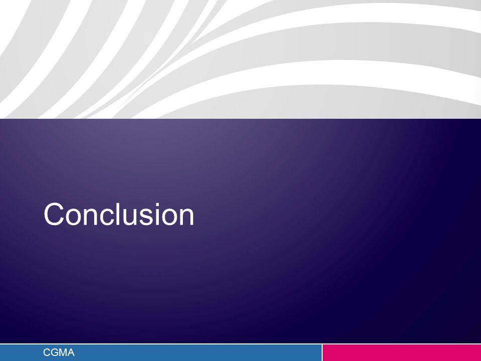 CGMA Conclusion