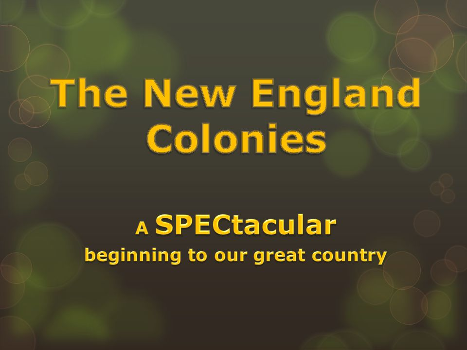 Quiz on the New England Colonies Click here
