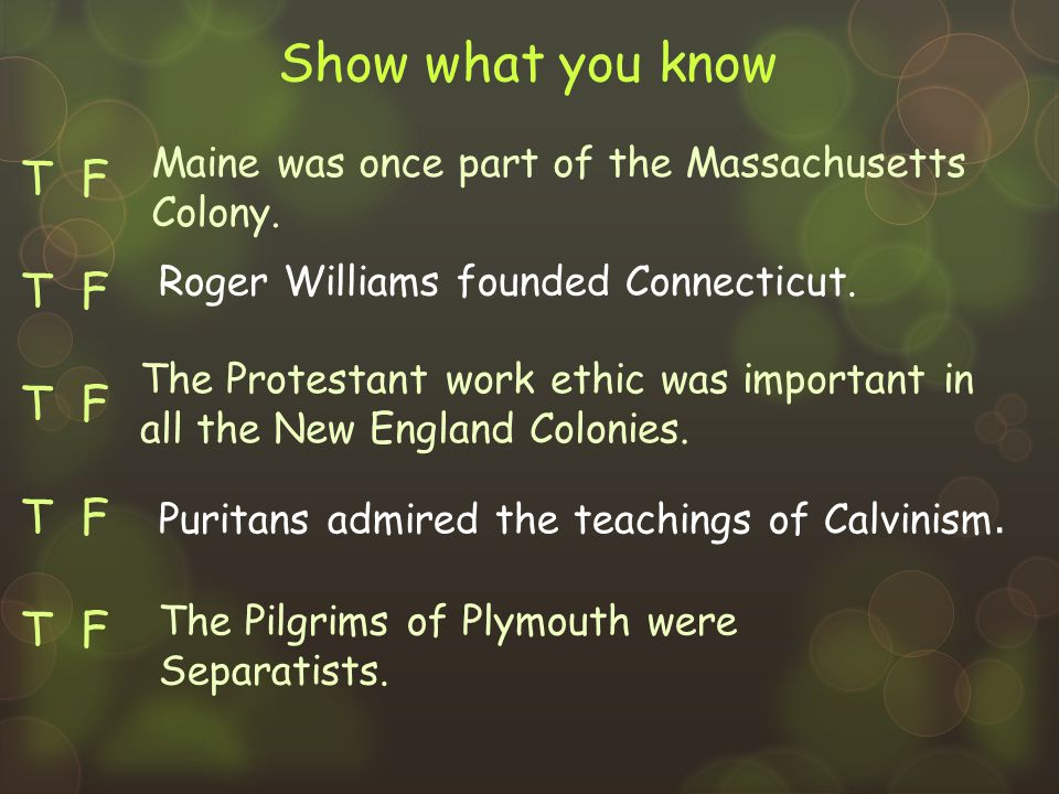 T F New Hampshire's first colonists came from Plymouth.