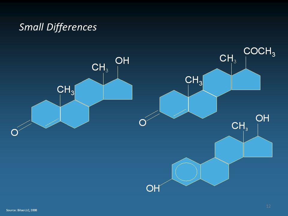 12 Source: Bilao LLC, 2008 Small Differences