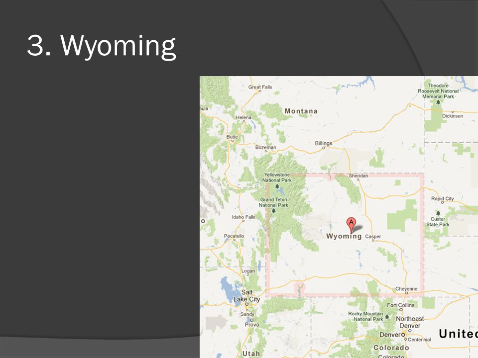 3. Wyoming