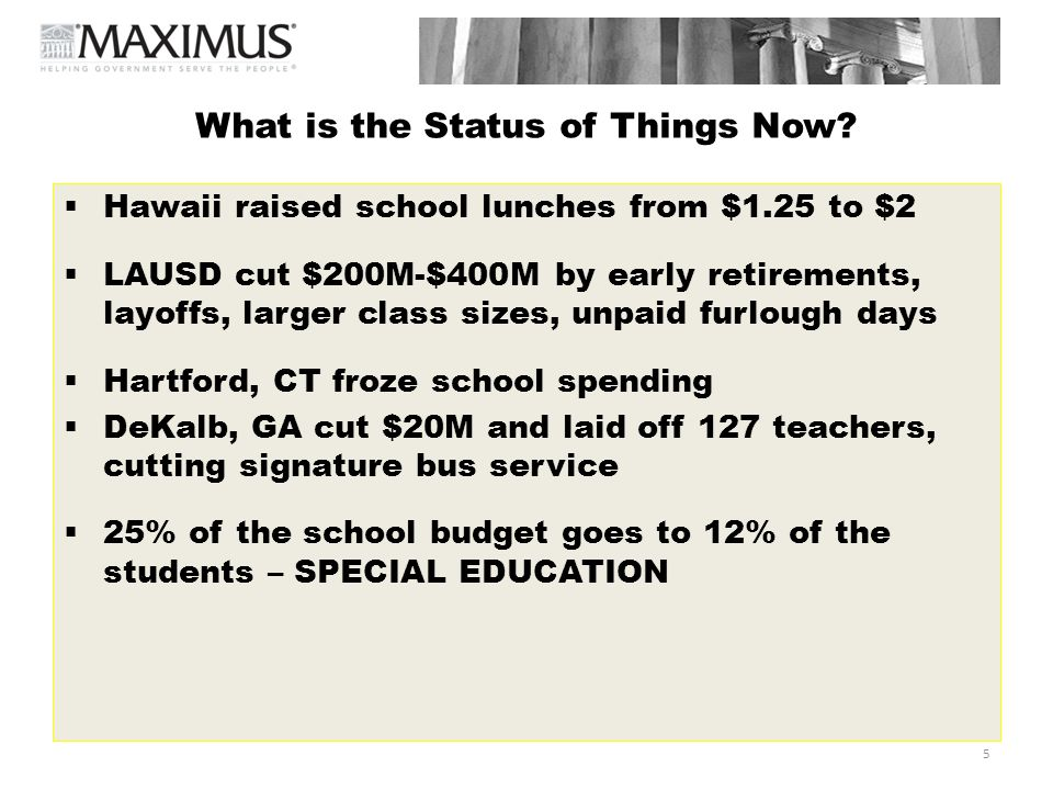 6 What Are The Issues Impacting Education Funding/Spending.