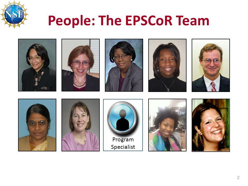 People: The EPSCoR Team 2 Program Specialist