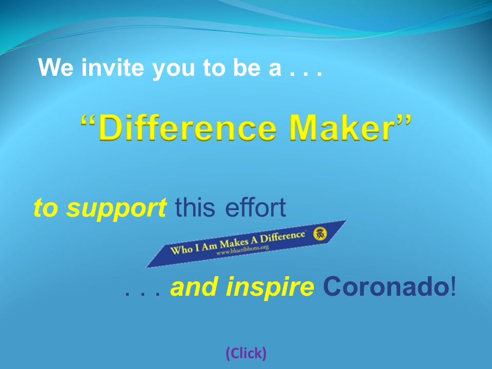 Help us raise $3,500... The Coronado Human Relations Commission invites you to make a difference.