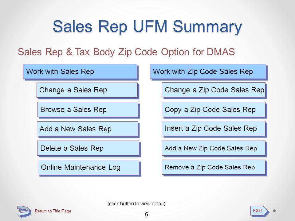 Sales Rep UFM Zip Code Sales Rep...