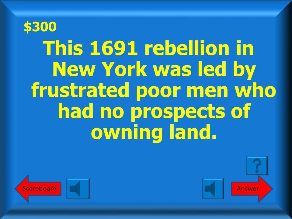 $200 Stono Rebellion What is the Stono Rebellion? Round 1
