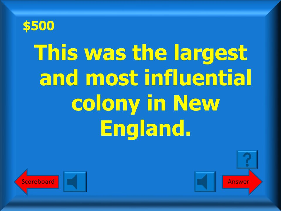 $400 Round 1 South (Southern Colonies)? What is the South (Southern Colonies)?