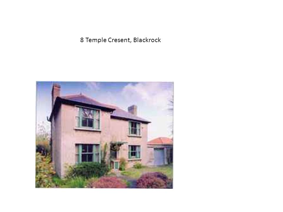 8 Temple Cresent, Blackrock May 05 Guide 650,000 Sold, 1.3 m, 5 bidders 100% over guide