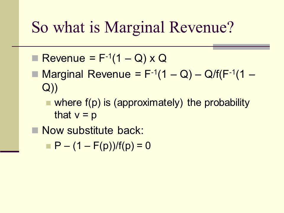 So what is Marginal Revenue.