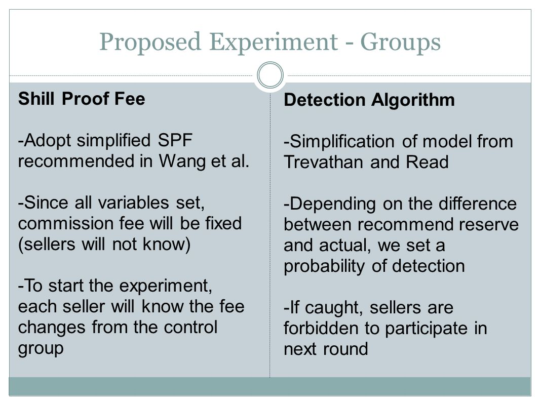 Shill Proof Fee -Adopt simplified SPF recommended in Wang et al.