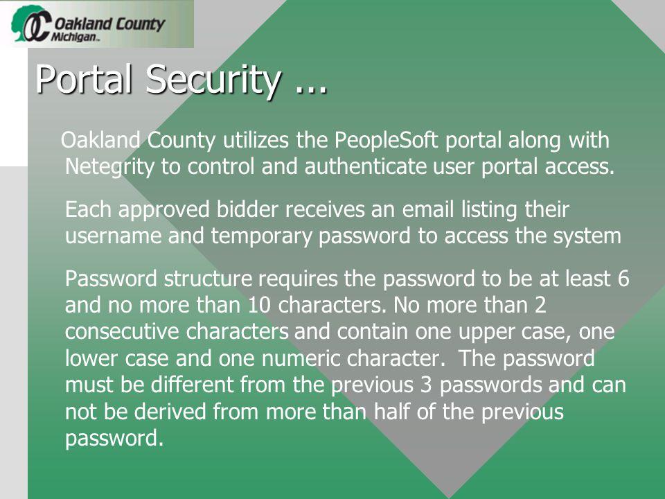 Portal Security...