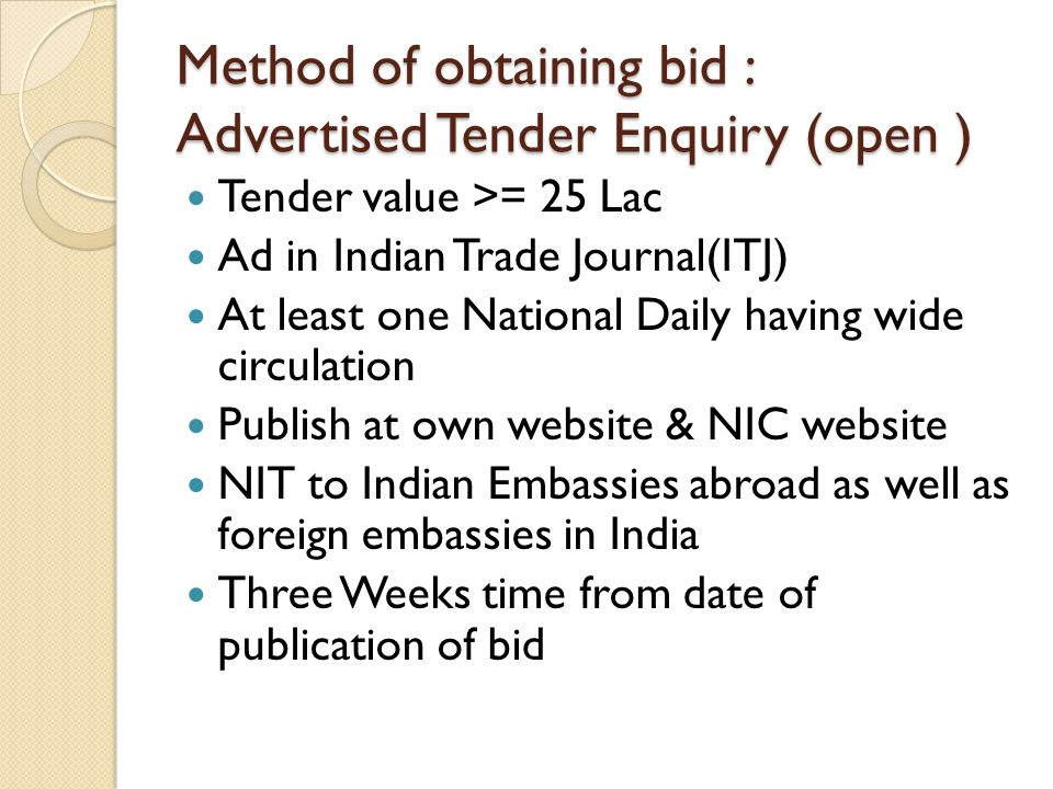 GFR : 151- LIMITED TENDER Value up to 25 Lac Bid document should be sent to Regd.