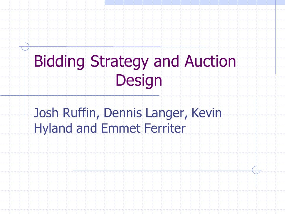 Overview So, we have shown that bidding your true valuation is better than both bidding under your valuation and bidding over your valuation.