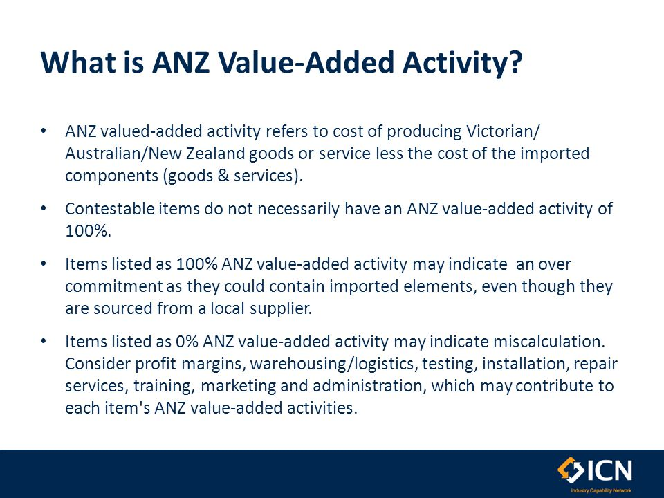 What is ANZ Value-Added Activity.