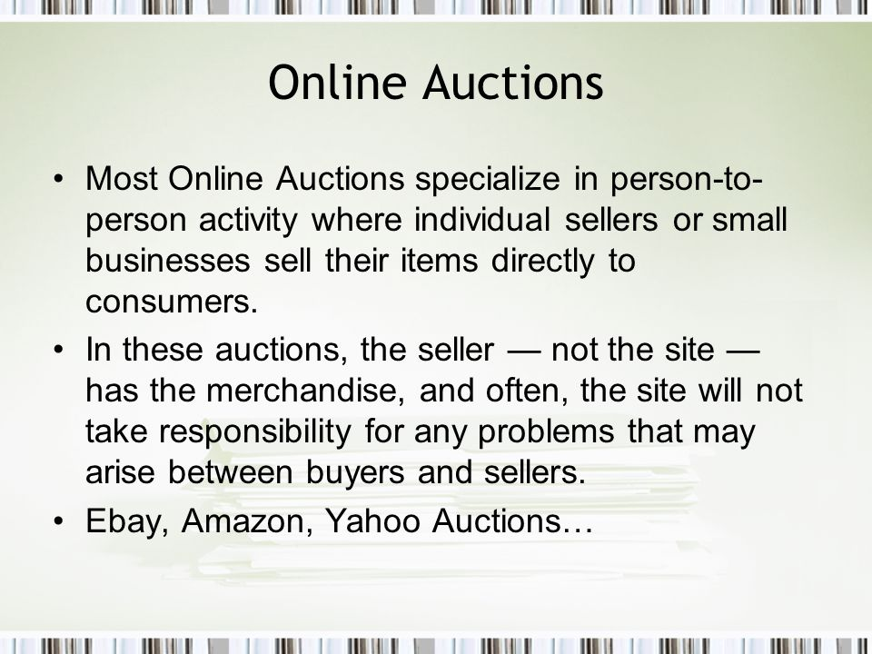 Outline Part 1: Agent Based Online Auction System –Is a multi-agent system that facilitates online auctions on behalf of users.