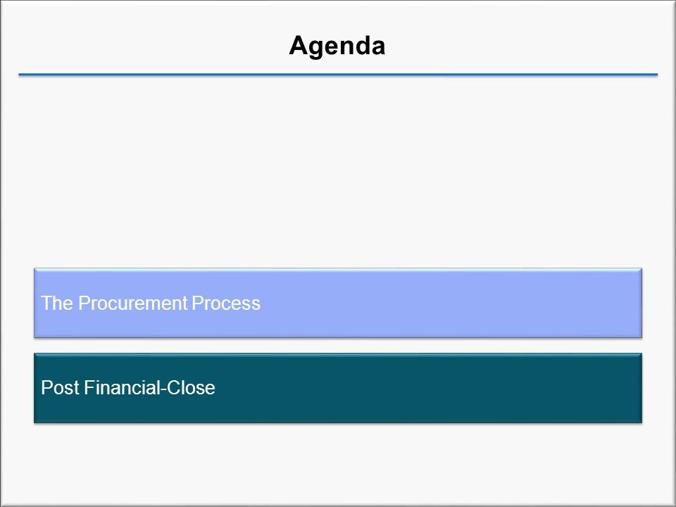 Agenda The Procurement Process Post Financial-Close
