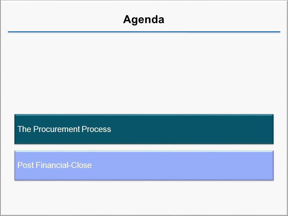 Agenda Post Financial-Close The Procurement Process