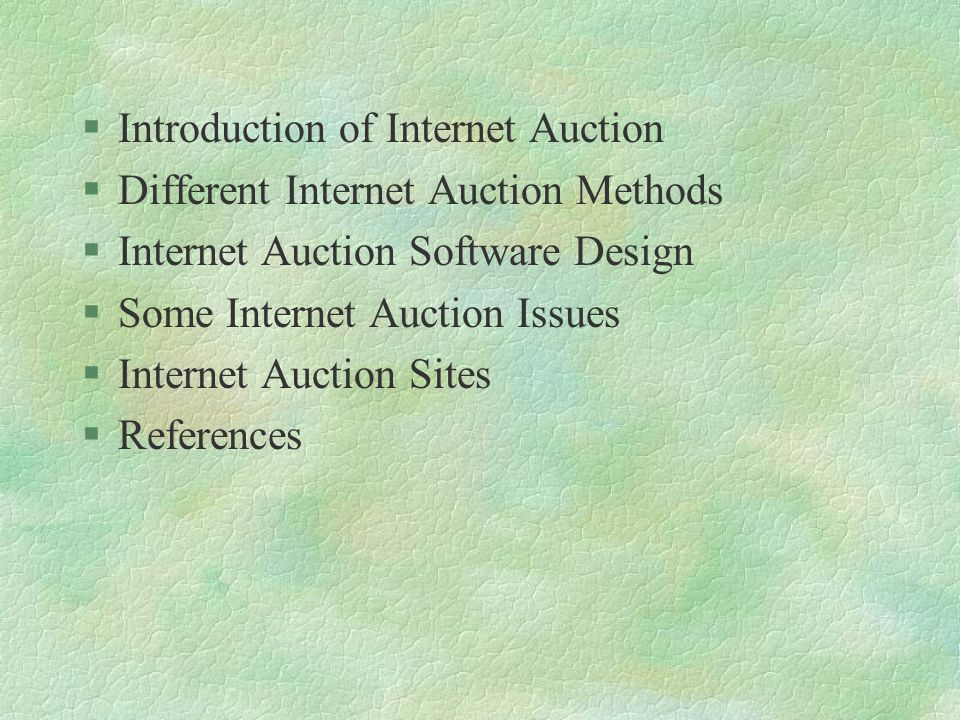 What is Internet Auction