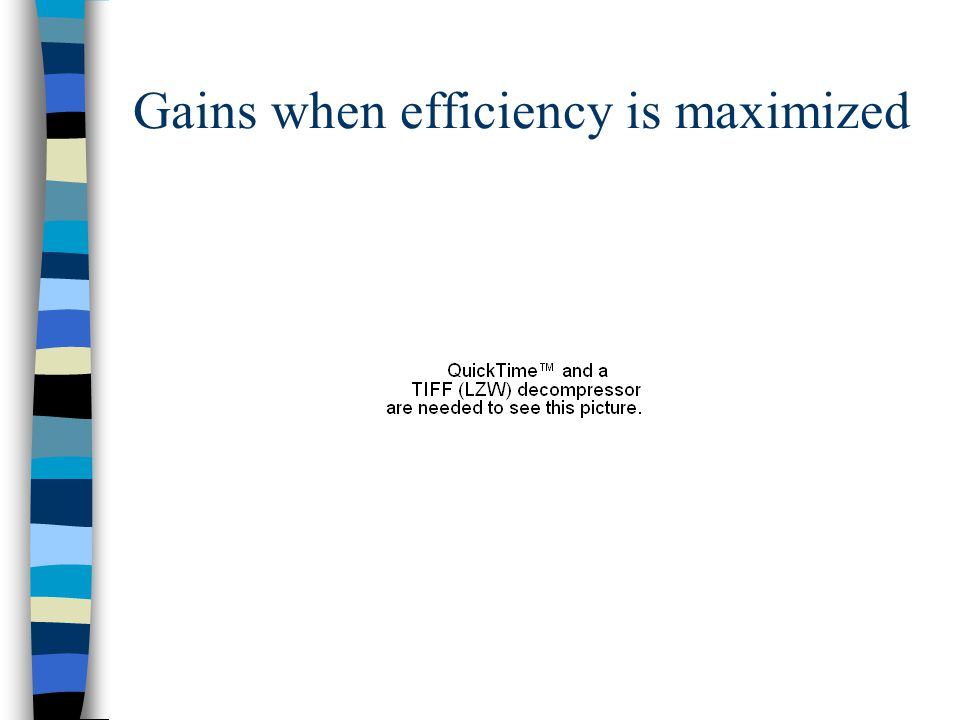 Gains when efficiency is maximized
