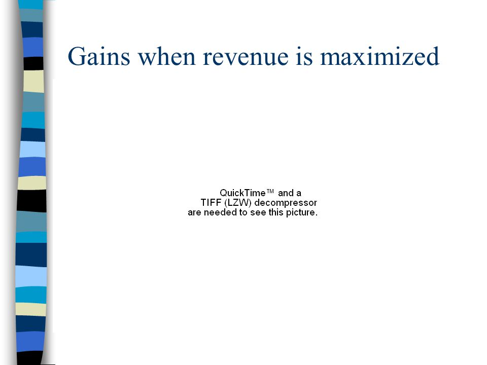 Gains when revenue is maximized