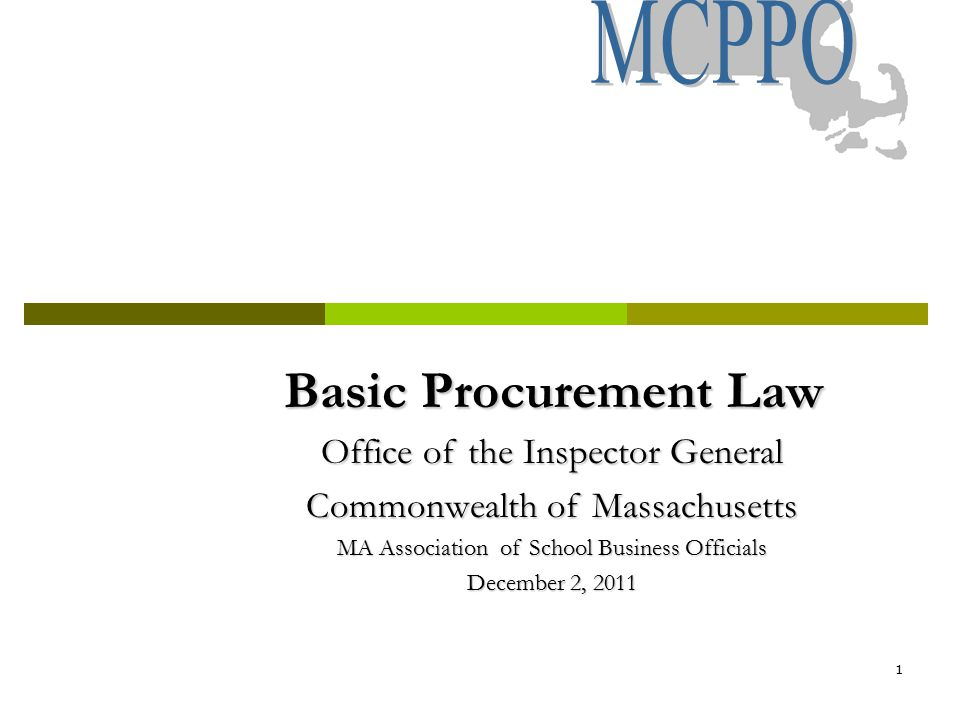 42 Chapter 30B Procurement Assistance Chapter 30B Attorney of the Day (617) 722-8838 (phone) 9:00 a.m.