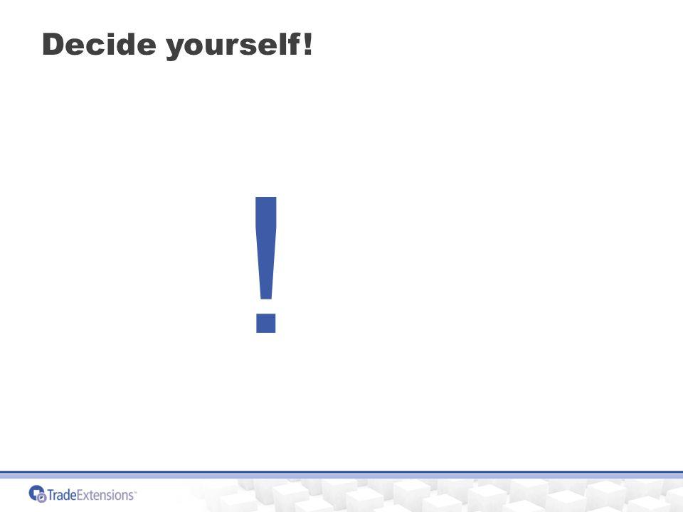 Decide yourself! !