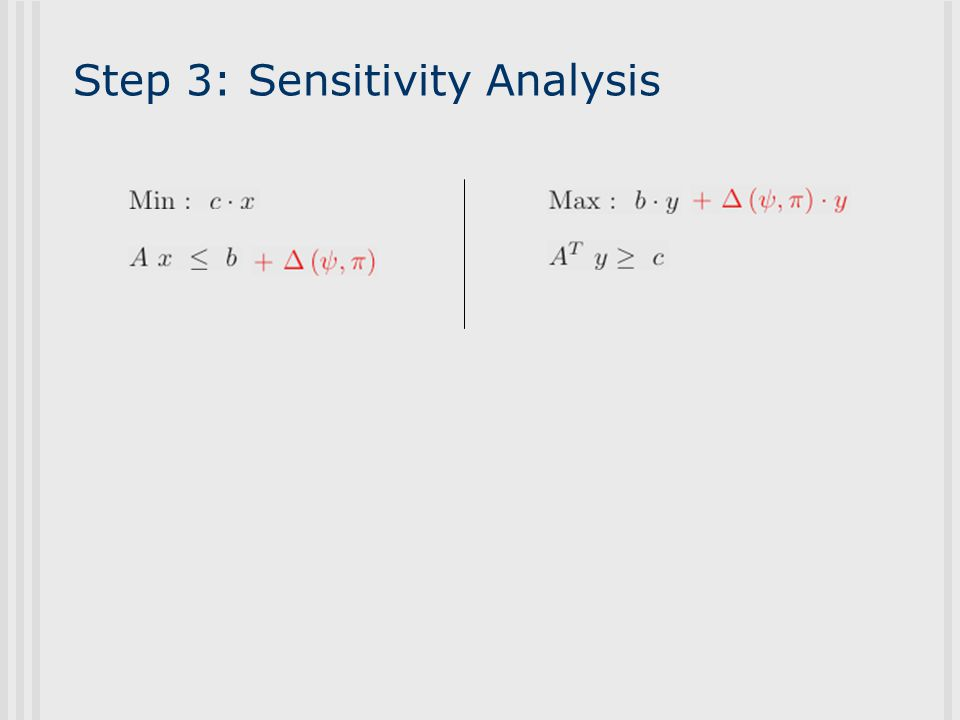 Step 3: Sensitivity Analysis