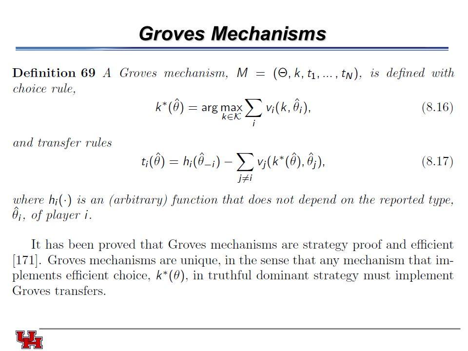 Groves Mechanisms