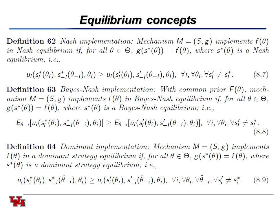 Equilibrium concepts