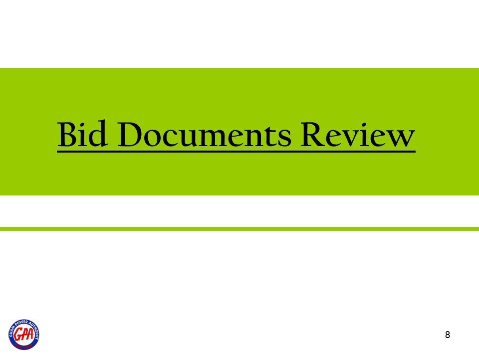 8 Bid Documents Review
