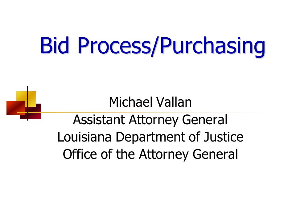 La.R.S. 38:2211-2296 Louisiana Department of Justice La.