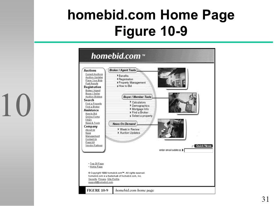 31 10 10-9 homebid.com Home Page Figure 10-9