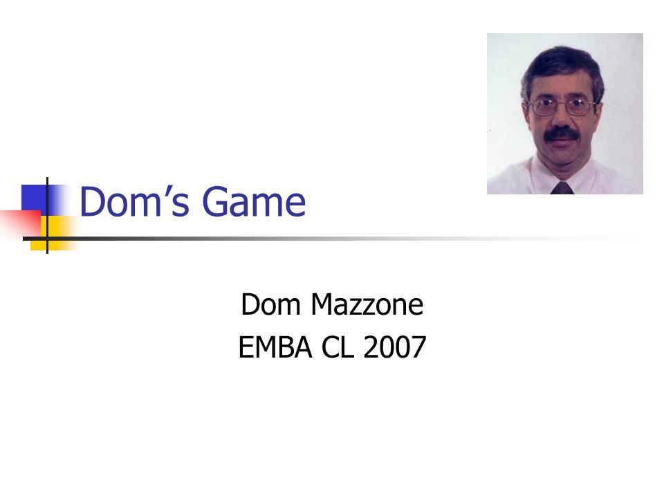 Dom's Game Dom Mazzone EMBA CL 2007