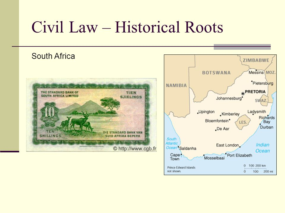 Civil Law – Historical Roots South Africa