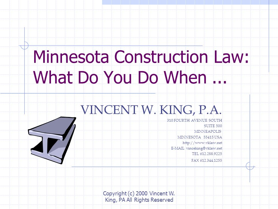 Minnesota Construction Law: What Do You Do When...