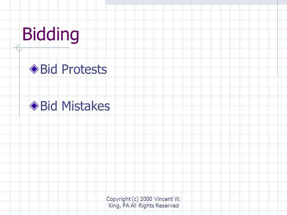 Bidding Bid Protests Bid Mistakes