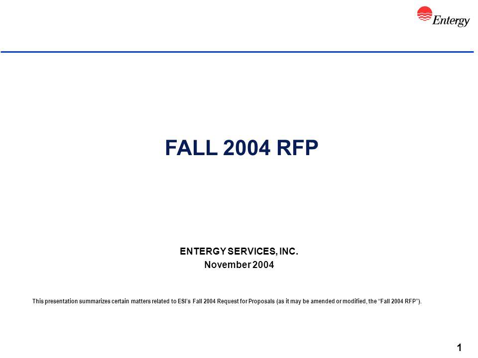 1 FALL 2004 RFP ENTERGY SERVICES, INC.